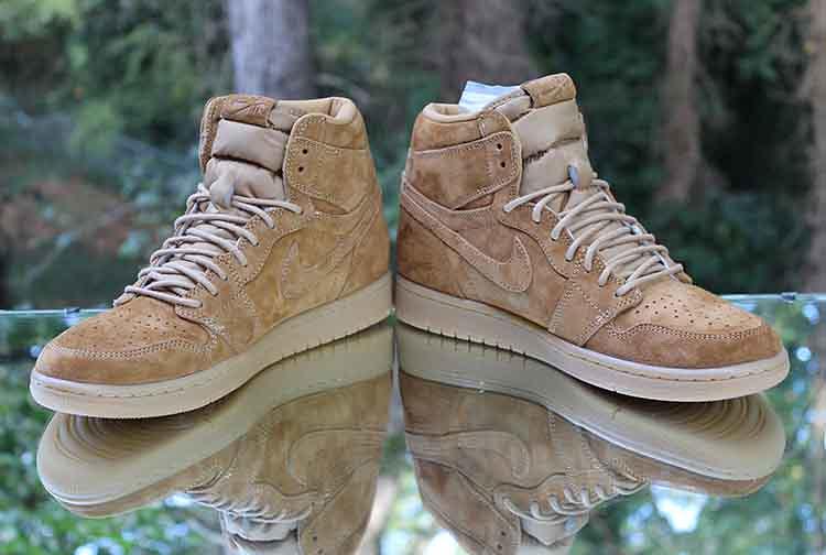 "buy online a4a02 693b7 ... Air Jordan 1 Retro High OG ""Wheat"" Golden Harvest 555088-710 Men s Size"