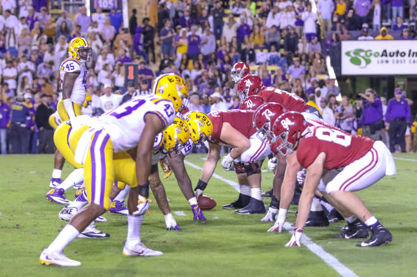 Alabama at LSU 2018