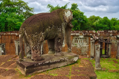 Elephant statue in the East Mebon temple ruins in Angkor Archeological Park near Siem Reap, Cambodia | by UweBKK (α 77 on )