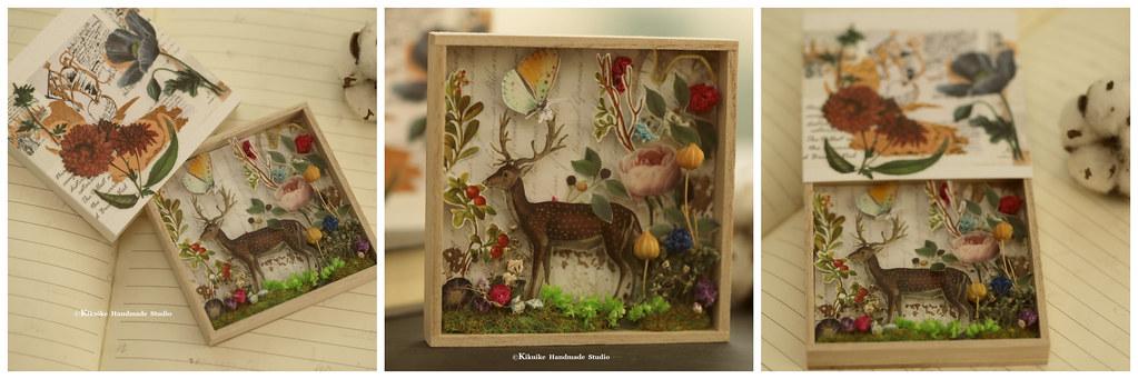 Handmade paper art box