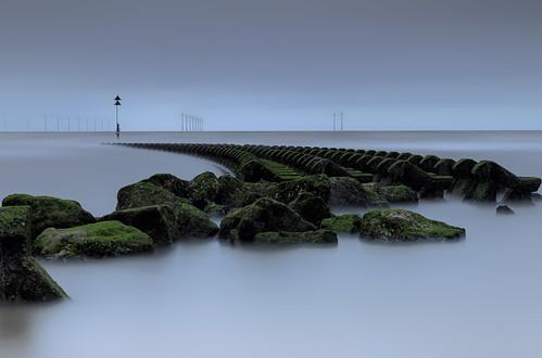 merseyside england unitedkingdom gb groynes sea defence le long exposure seascape landscape formatt hitech firecrest burbo bank wind farm