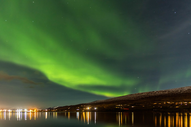 Northen light in Eyjafjordur