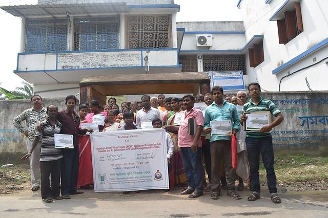 RKVY sponsored 2nd training program on Fish Health Management @ Nischintopur, Budgebudge-I during 28-30 Aug 2018
