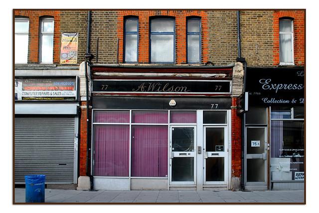 A.WILSON, LADYWELL ROAD, LONDON SE13.