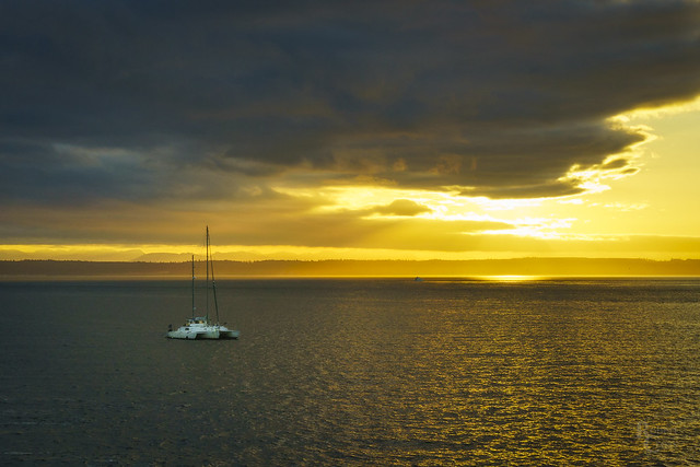 Sunrise Over Admiralty Inlet