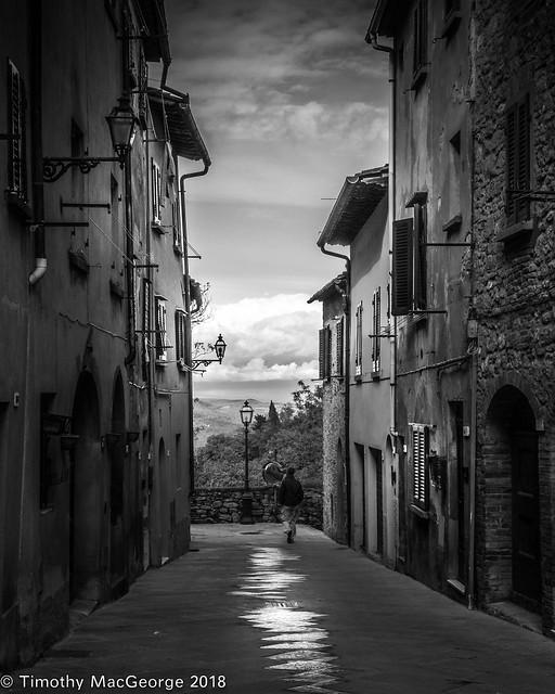 Volterra Street Man Walking