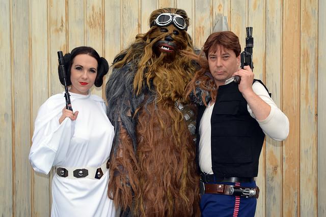 Leia, Chewbacca and Han Solo (2)