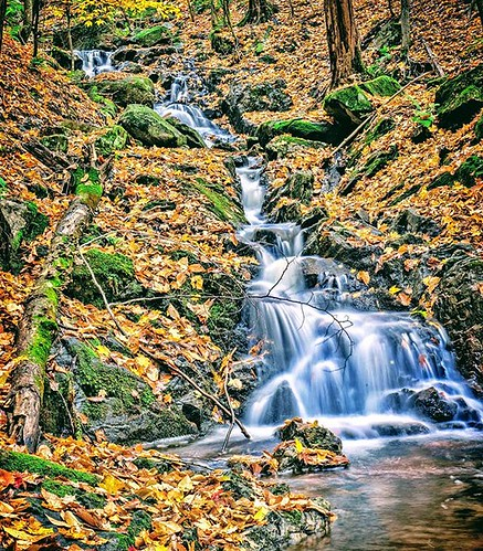 Another waterfall.#gatineaupark #autumn #waterfall #leaves #Ottawa #myottawa #landscape #imagesofcanada | by Tukay Canuck