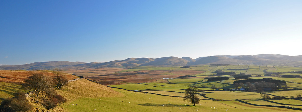 The Howgills from Great Asby Scar.