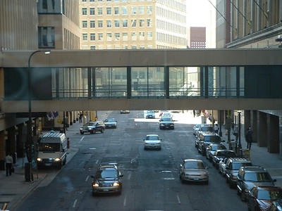 Skywalks in downtown Minneapolis