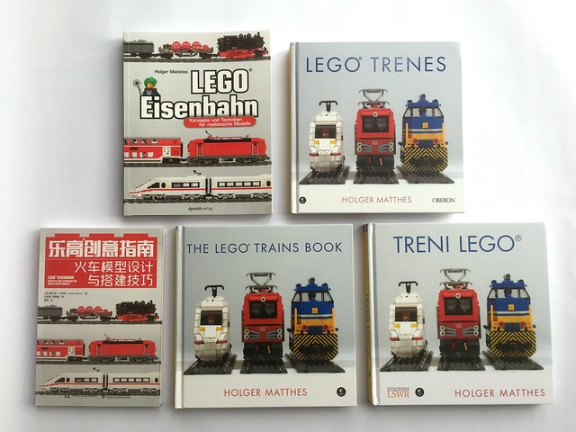 LEGO Trains Book in German, English, Chinese, Spanish and Italian