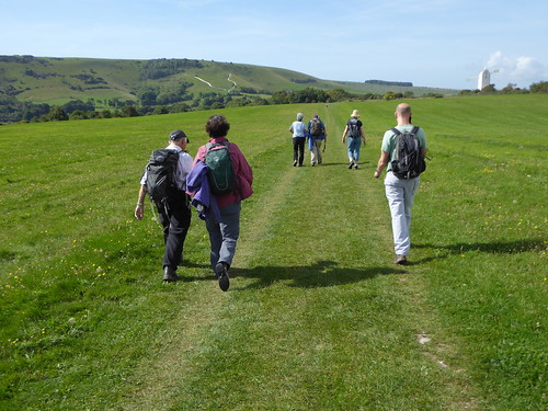 First view of the downs Lewes to Saltdean walk