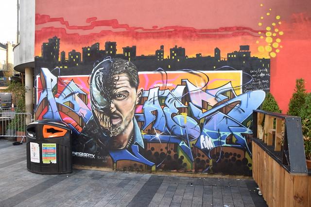 DSC_1217 Dalston London Gillett Square Street Art Eddie's body merges with the alien Venom