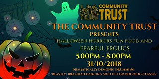 Tomorrow evening, bring the family down for some frightening frolics and scary surprises at the Community Trust #Halloween2018 party 👻🍭🍬 https://t.co/TCq8tYT090 | by community.trust