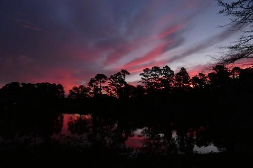 sunrise dawn cloudsstormssunsetssunrises cloudscape clouds redclouds lake northcarolina fairfieldharbour panasonic fz80