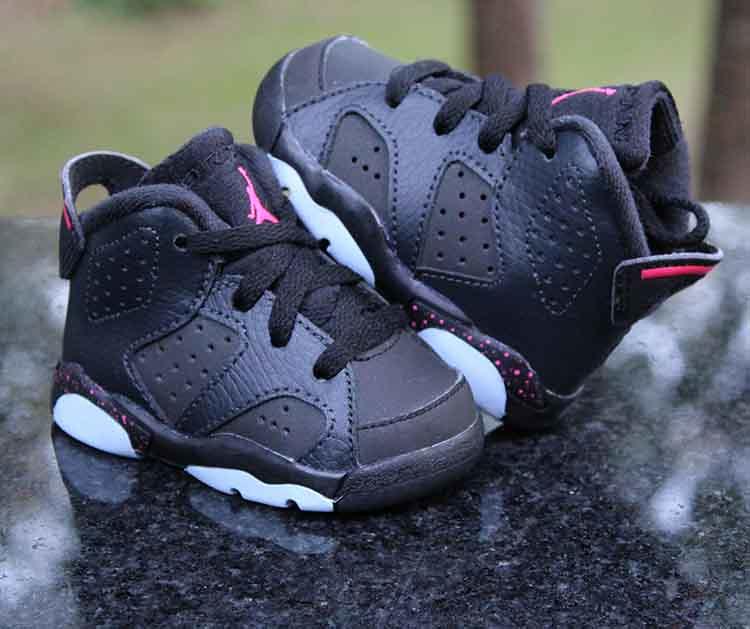 separation shoes 73c6d 73d8b ... Nike Air Jordan 6 Retro Hyper Pink 645127-008 Black Toddler Size 3c   by