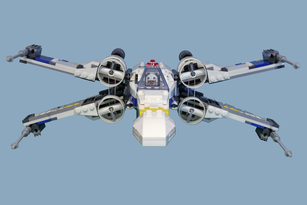 Lego Star Wars Rogue One X Wing Blue Squadron Antoc Merrick Blue Leader Moc A Photo On Flickriver
