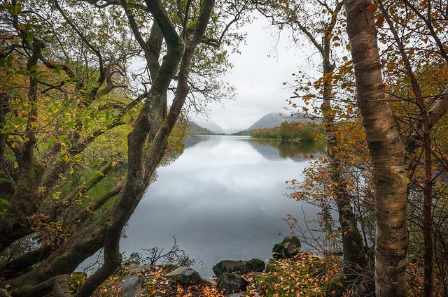 The beautiful Llyn Padarn lake.