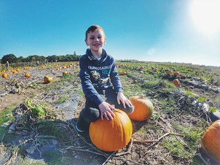 Smiling with the pumpkin | by My Two Mums