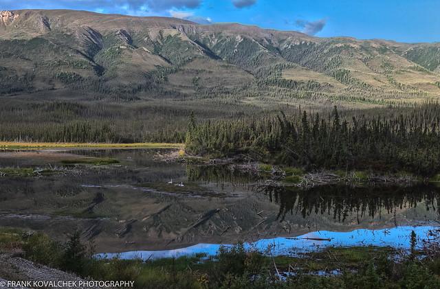 Landscape along the Alaska Highway in the Yukon Territory