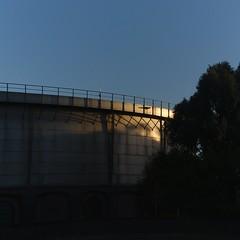 Gashouder at Westergasfabriek in the morninglight