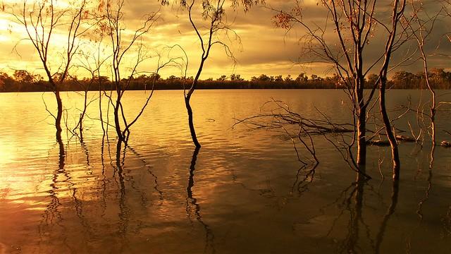 Sunrise over Hattah Lake, Hattah-Kulkyne National Park, Victoria, Australia