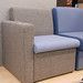 E50 grey fabric reception waiting chair