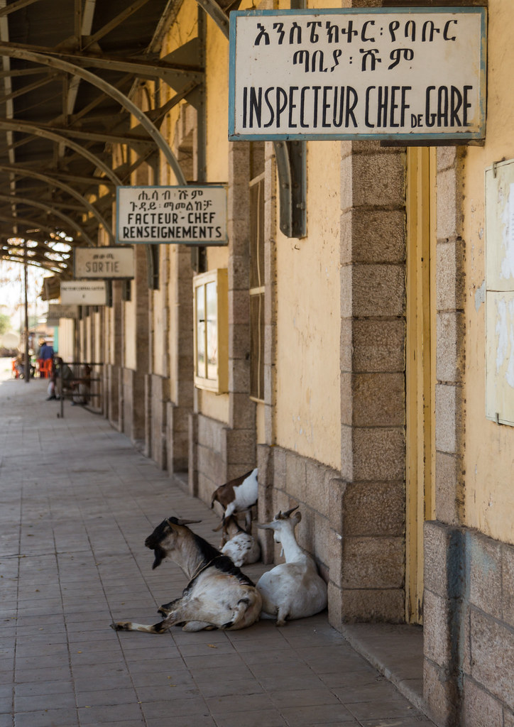 Old sign of the station managers in the ethio-djibouti rai