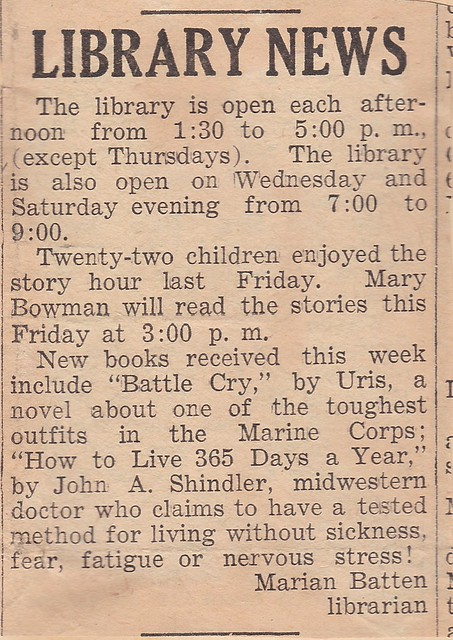 SCN_0008 Library News by Marian featuring Battle Cry