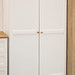 Arcadia white and ash two door one drawer wardrobe E260