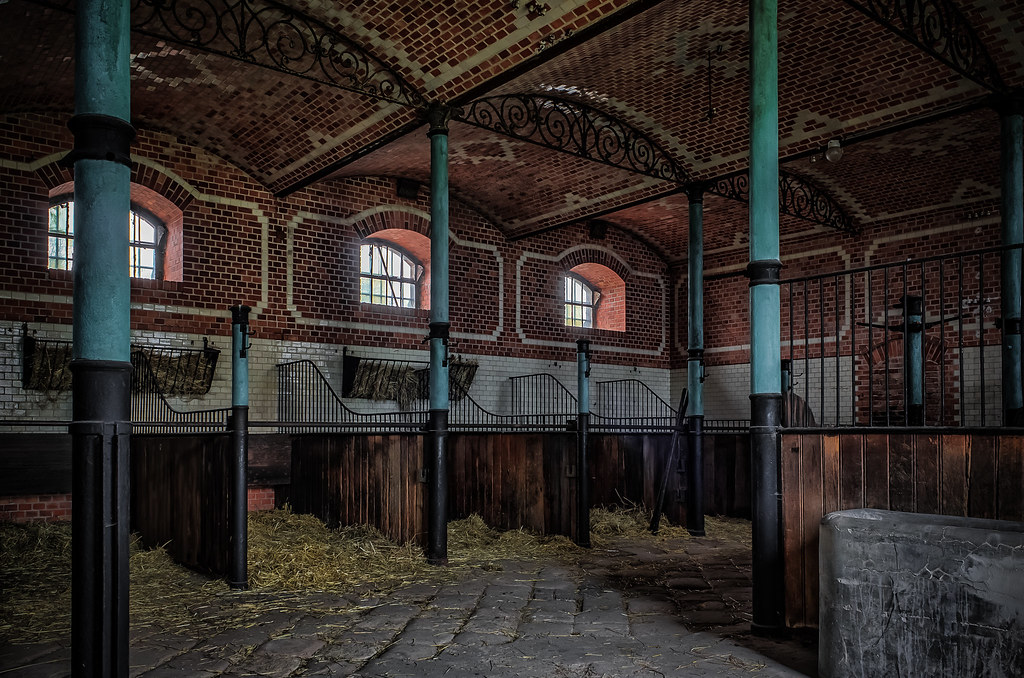 the abandoned horse stable in the abandoned fairy tale castle