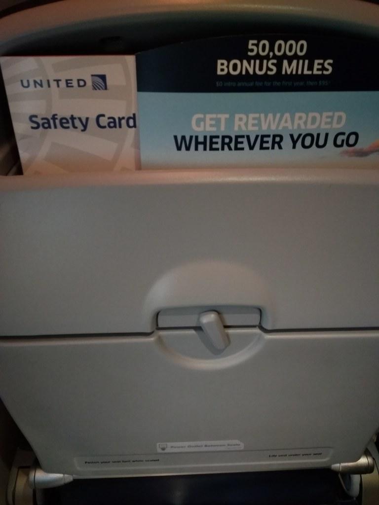 United Airlines Economy Seat