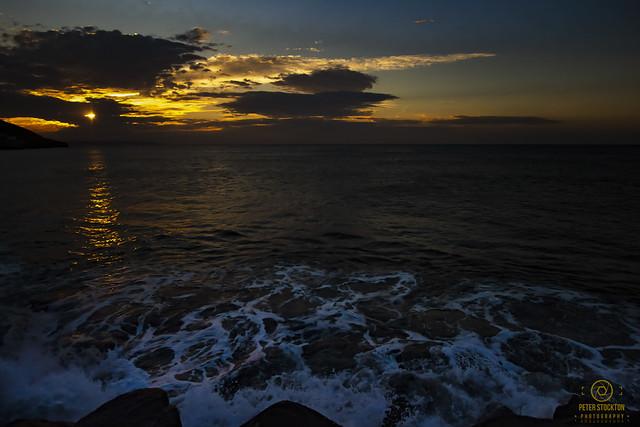 sunset westward ho uk