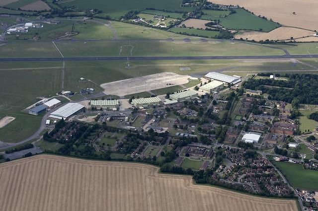 Wattisham Airfield in Suffolk - aerial view