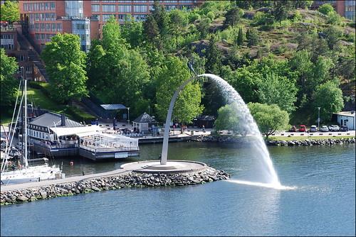 estocolmo suecia 2015 stockholm sweden europa europe europeanunion unióneuropea fiordo fuente fountain agua water costa báltico