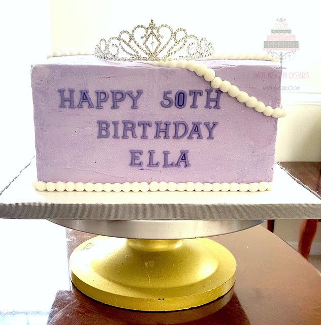 Queen 50th Birthday Cake
