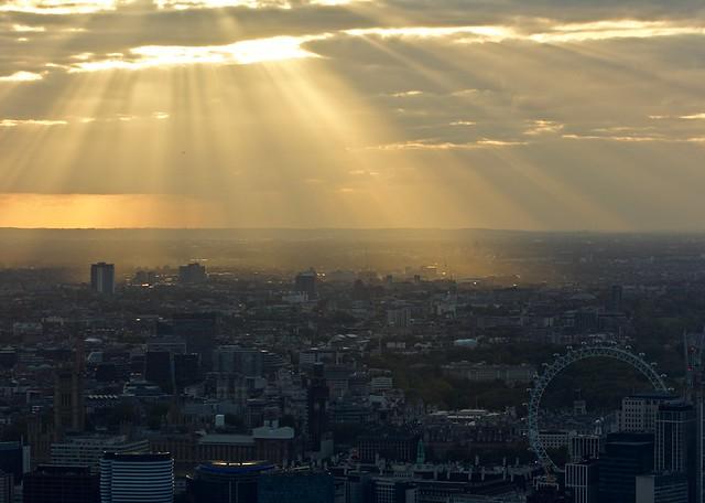 Sunset over the London Eye