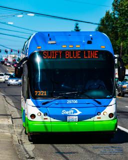 Vivid Focus on @MyCommTrans Swift Blue Line | by AvgeekJoe
