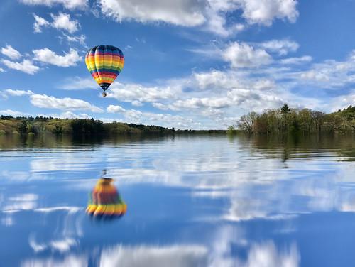 Balloon over Fairhaven Bay