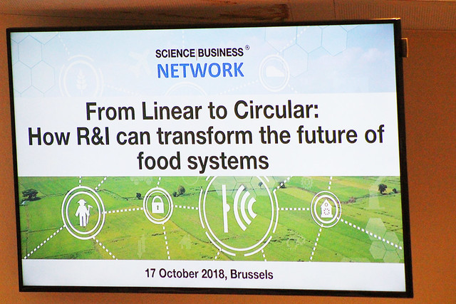 From Linear to Circular - How R&I can transform the future of food systems, 17 October 2018, Brussels