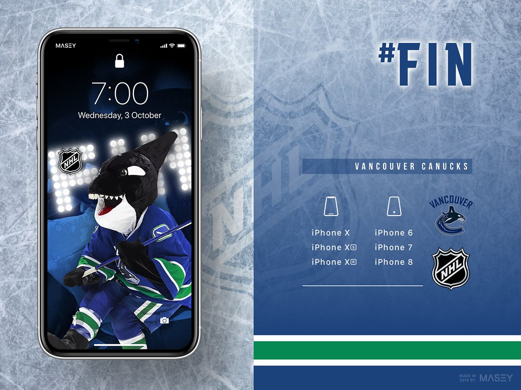 Fin (Vancouver Canucks) iPhone Wallpaper