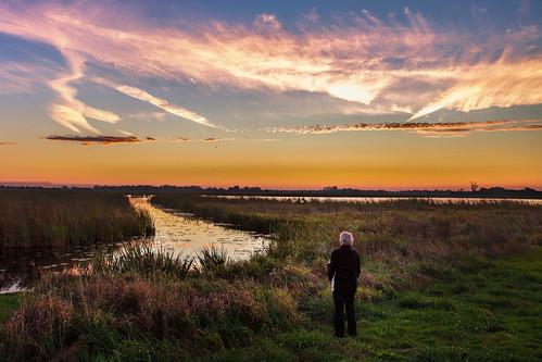 reinasmallenbroek me de onlanden sunrise water zonsopkomst sky clouds lucht drenthe netherlands