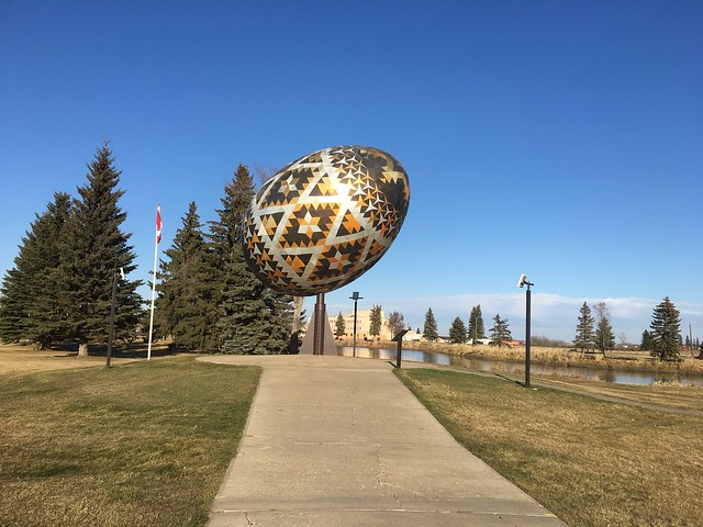 World's Largest Ukrainian Egg, Vegreville, Alberta, Canada