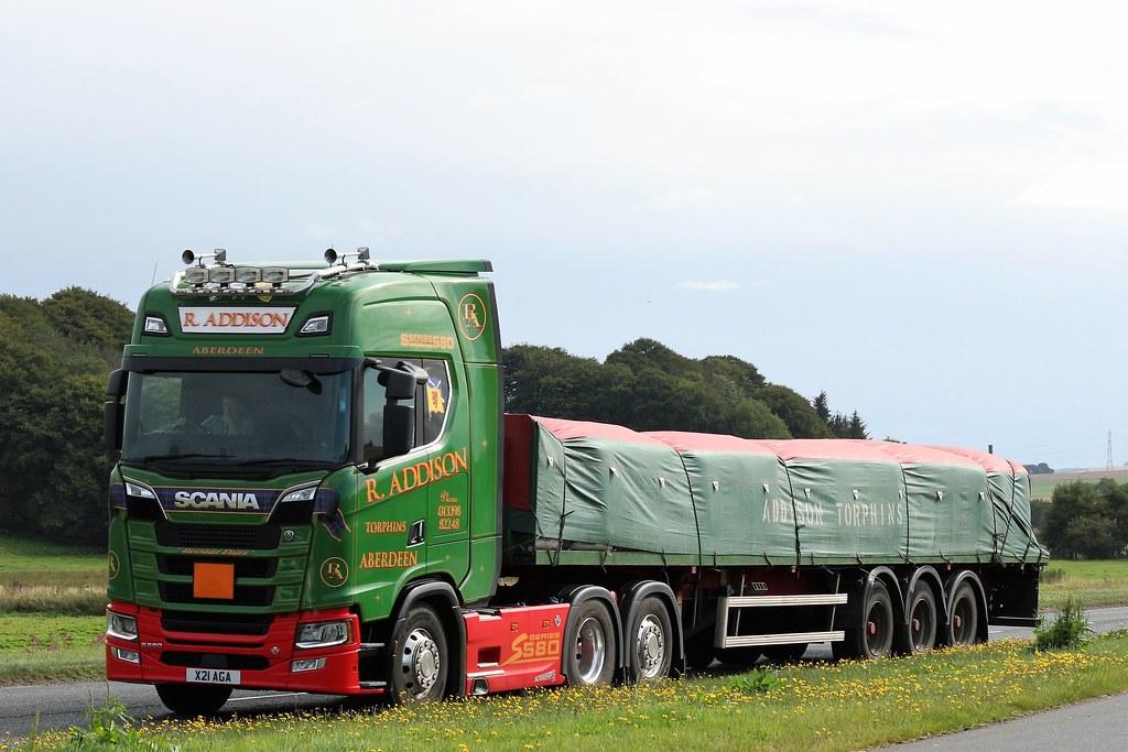 R Addison Scania S580 V8 X21aga A947 Birkenhills Richard Johnston Flickr