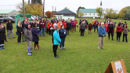 <p>The group gathered to open Seven Generations' Fall Harvest</p>