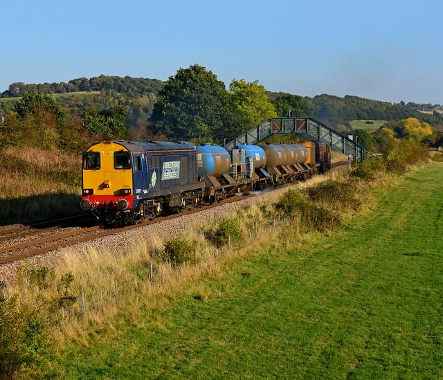 RHTT Mooses work 3S15 20305 tnt 20302 Sheffield to Bridlington seen at Ecclesfield