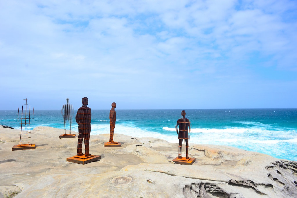 Shifting Horizons - sculpture by the sea