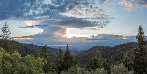 tularosabasin alamogordo whitesandsnationalmonument hollomanairforcebase lincolnnationalforest sunspot cloudcroft landscape clouds sky trees panorama newmexico gseloff