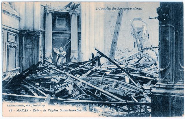 Arras - Ruines de l'Eglise Saint-Jean-Baptiste