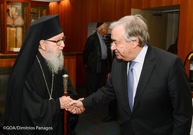 """""""United Against Hate"""": Archbishop Demetrios Joins Religious Leaders in Solidarity with Pittsburgh"""